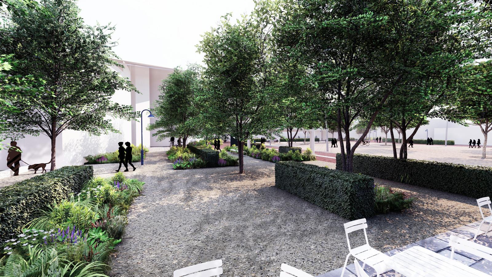 De initiatiefgroep Hart in Bodegraven wil het centrum vergroenen en sfeervoller maken. Een impressie van hoe het kan worden.