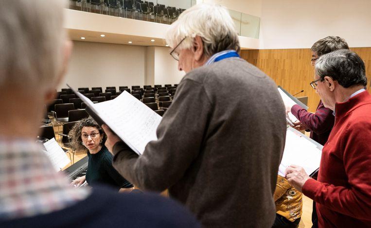 Bladmuziek met 100 jaar arrest Lindenbaum/Cohen. Beeld Freek van den Bergh/de Volkskrant