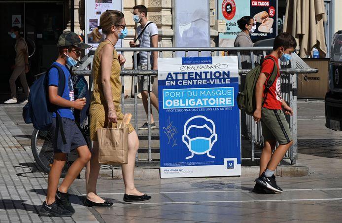 Ook in Montpellier, departement Hérault zijn mondmaskers verplicht.