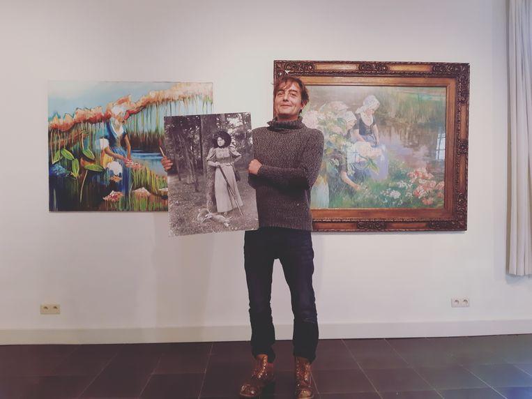 Lionel van den Boogaerde liet zich inspireren op de werken van zijn overgrootmoeder.