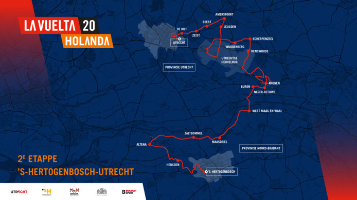 De tweede etappe: Den Bosch - Utrecht.