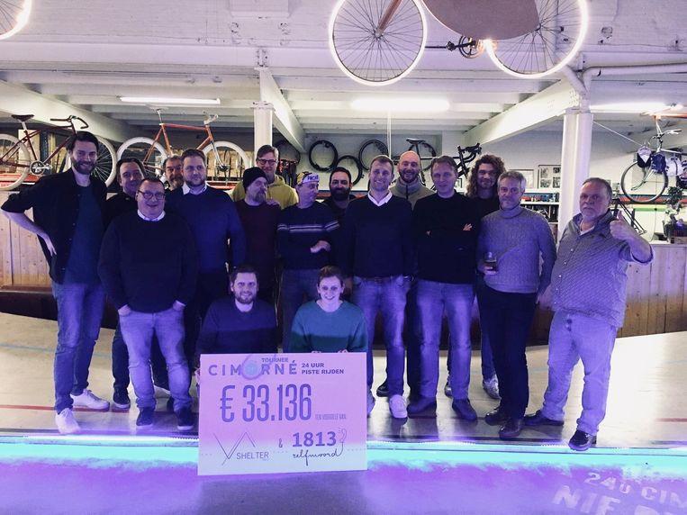 De organisatoren van de '24 Uren van Cimorné'. Het evenement bracht maar liefst 33.136 euro op voor het goede doel.
