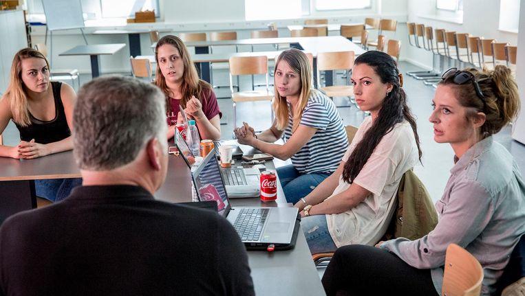 Studenten op de Thomas More Hogeschool in Rotterdam. Beeld Arie Kievit