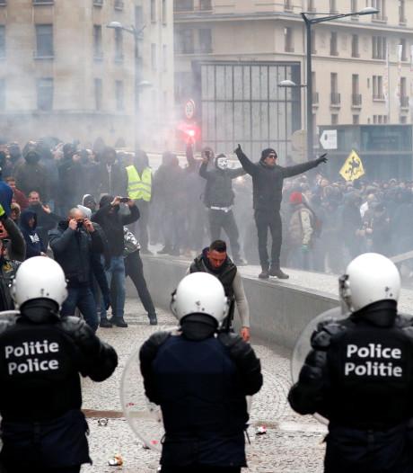 Rust teruggekeerd na Mars tegen Marrakesh in Brussel, 90 aanhoudingen