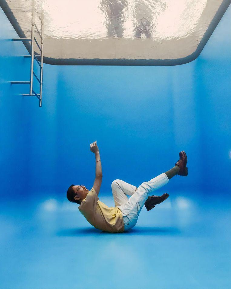 In 'Swimming Pool' in Museum Voorlinden. Beeld Darren Da
