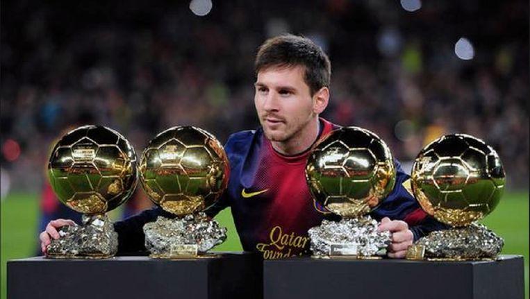 Lionel Messi won al vier keer de Gouden Bal, maar speler van de maand in de Primera División dat werd hem nog niet gegund