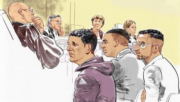 Hicham M. in de paarse trui in de rechtbank Beeld ANP