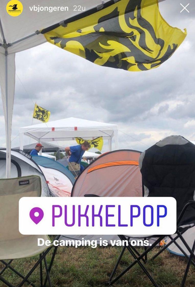 Instagram-bericht Vlaams Belang Jongeren. Beeld RV