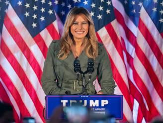 """Melania Trump waarschuwt in zeldzame toespraak voor """"socialistische agenda"""" van Biden en roept kiezers op om te stemmen"""