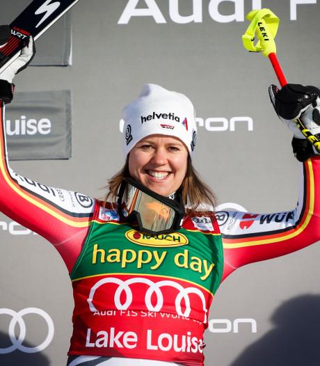 Rebensburg wint eerste wereldbeker super-G in Lake Louise