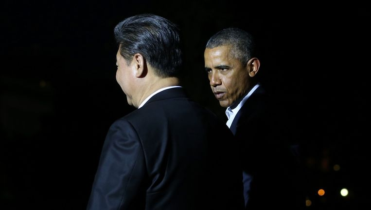 President Barack Obama van de Verenigde Staten en president Xi Jinping van China. Beeld getty