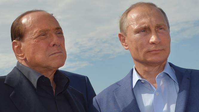 Russische president Poetin nog steeds goede maatjes met Italiaanse ex-premier Berlusconi