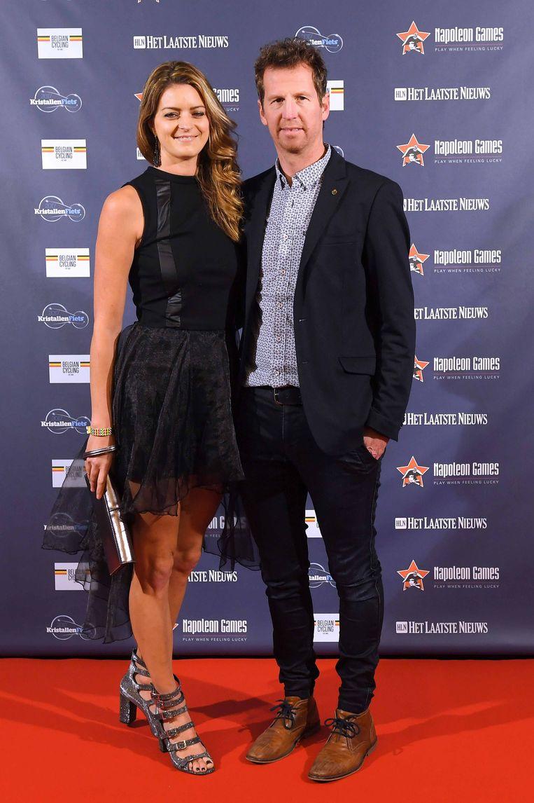 Rik Verbrugghe met Claudia, de zus van winnaar Greg Van Avermaet.