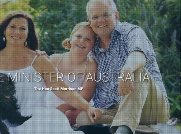De getruceerde foto die op de website van de premier van Australië verscheen.