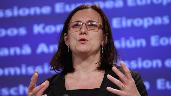Eurocommissaris van Binnenlandse Zaken Cecilia Malmström.