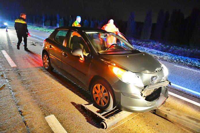 Tweede ongeluk op N397 dinsdagavond bij Eersel.
