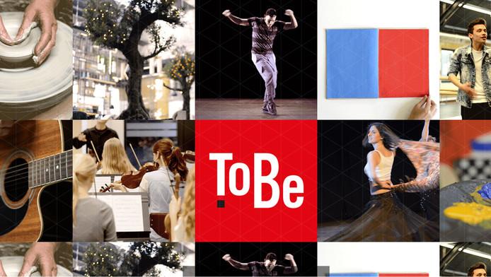 Screenshot van de site van ToBe.