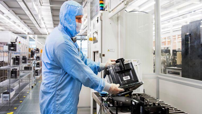 Een chipfabriek. Beeld null