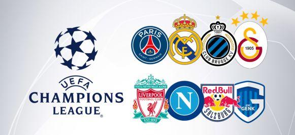 De groepen van Genk en Club Brugge.