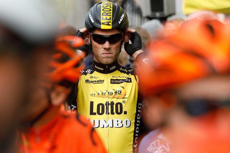 Lars Boom bij de start van de Amstel Gold Race. Beeld ANP