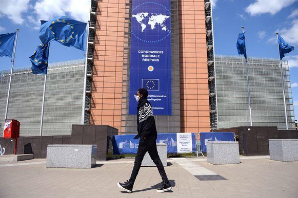Het Berlaymont-gebouw in Brussel.