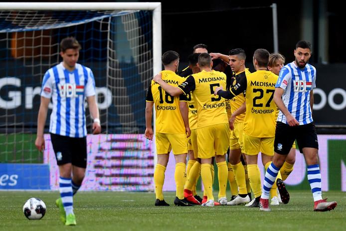 Het spel speelde zich bijna de hele wedstrijd op de helft van Roda JC af. Toch verloor FC Eindhoven gisteravond met 1-2.