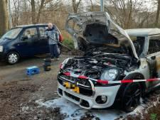 Buurt in Zwolle schrikt wakker van enorme knal, Mini Cooper gaat in vlammen op
