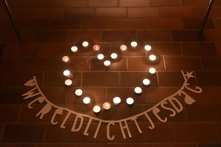 Ook in Beringen werden, net als overal ter wereld, om 19 uur lichtjes aangestoken ter nagedachtenis van overleden kinderen.
