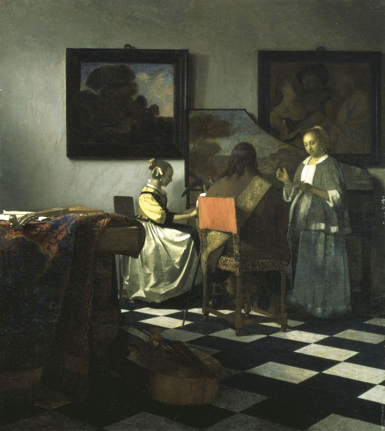 Het concert van Johannes Vermeer. Beeld