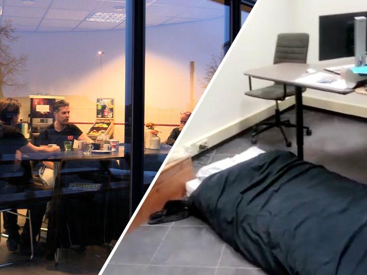 Deze collega's zitten samen in quarantaine: 'Kantoor is nu ook een slaapkamer'