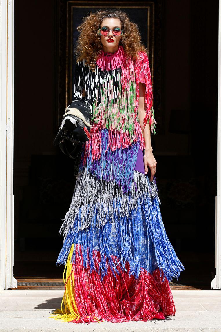 De spaghetti-jurk. Beeld Getty Images