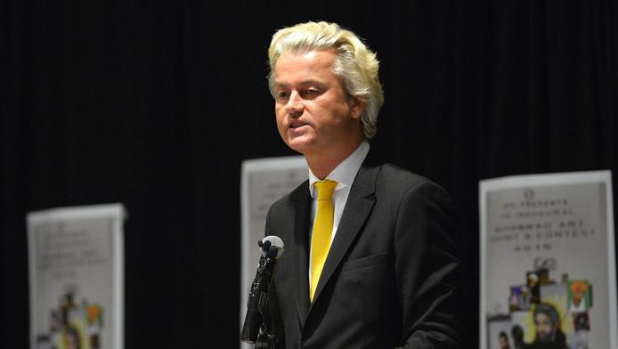 Wilders tijdens zijn speech in Garland