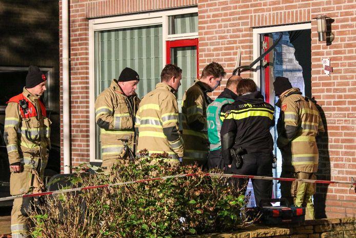 De explosie bij een woning in Urk