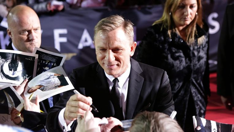James Bond-acteur Daniel Craig op de première van Skyfall in Berlijn. Beeld ANP
