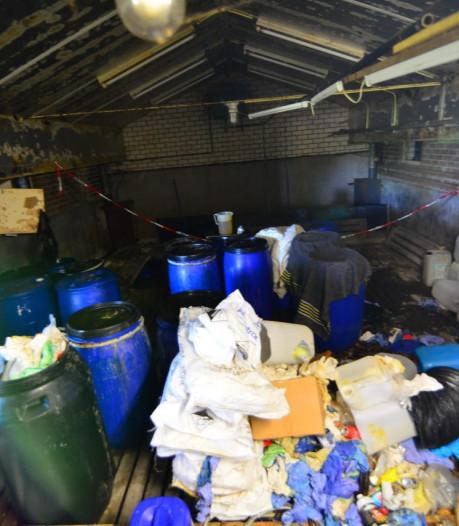 Eindhovense drugsbende loosde afval in mestkelders