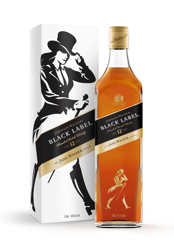 De Jane Walker-editie van het populaire whiskymerk Johnnie Walker.