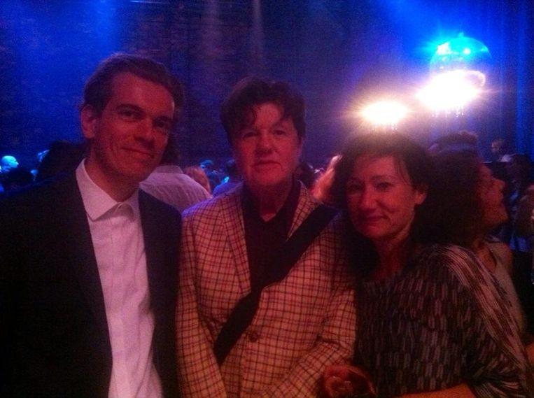 Met collega's Vincent Kouters en Karin Veraart op het TheaterGala. Beeld