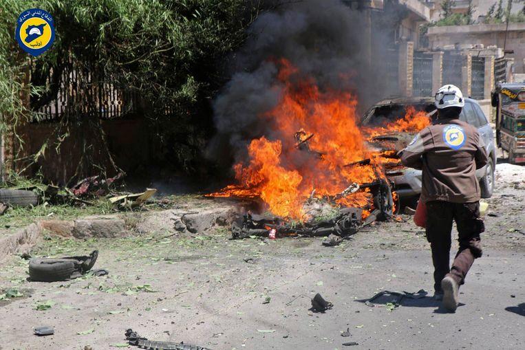 Archieffoto. In een verklaring zegt de coalitie dat de aanval defensief was, en dat ermee gereageerd werd op een 'ongeprovoceerde aanval' van de Syrische troepen op het hoofdkwartier van de Syrische Democratische Strijdkrachten, nabij de rivier de Eufraat.