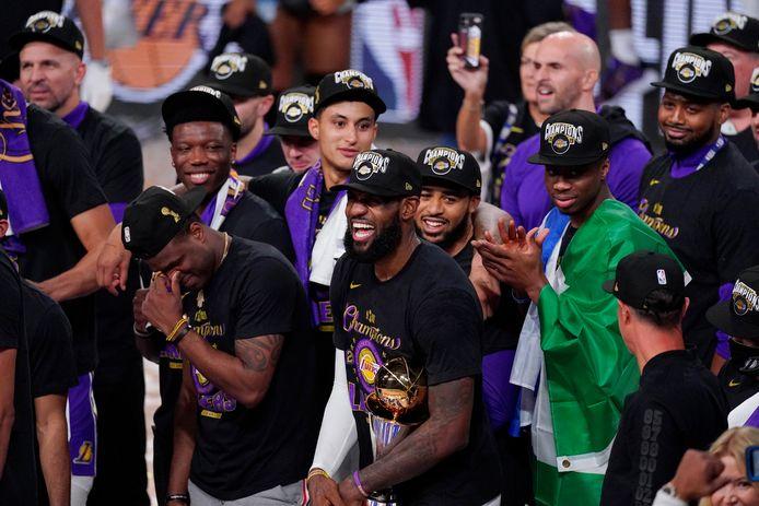 De Lakers kroonden zich op 12 oktober tot kampioen.
