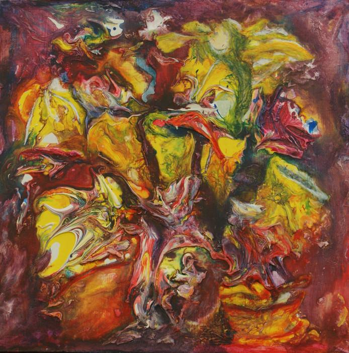 Dit stuk uit de serie Fantasiewerelden van Iris Roselie is dit weekeinde te zien in het Louvre in Parijs.