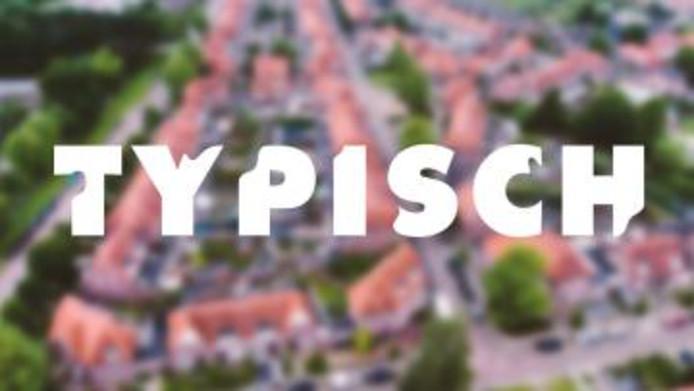 Het logo van het programma Typisch, dat sinds eind 2017 dagelijks op televisie te zien is.
