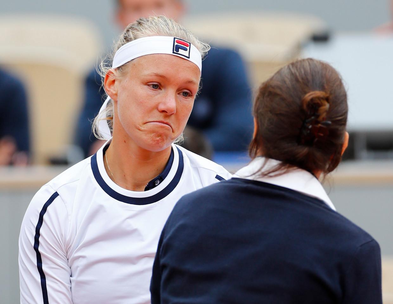 Kiki Bertens, hier tijdens haar wedstrijd in de tweede ronde van Roland Garros.