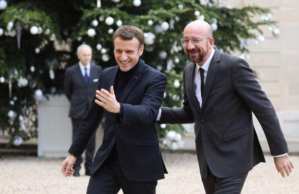 Charles Michel bracht vandaag een voorbereidend bezoek aan Emmanuel Macron.