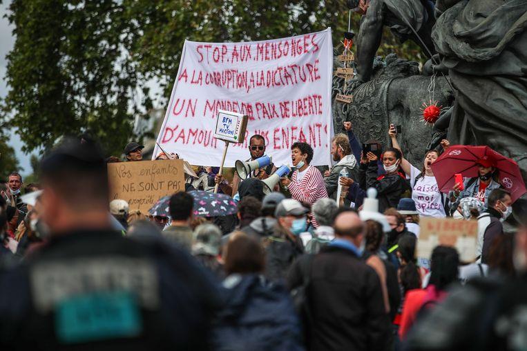 Protest in Parijs. Beeld EPA