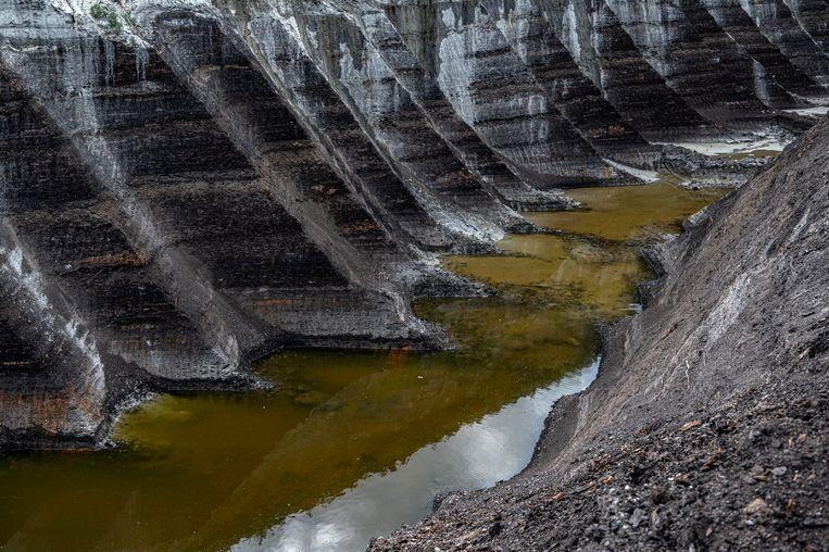 Een bruinkoolmijn van de Matra-elektriciteitscentrale in Visonta, Hongarije.  Beeld EPA