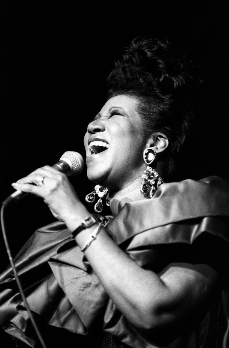 Op 3 maart 1990 in de Radio City Music Hall in New York. Beeld Getty Images