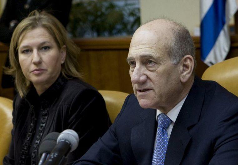 Het regime in Teheran houdt de Israëliërs (waaronder Olmert, foto) verantwoordelijk voor oorlogsmisdaden in de Gazastrook. Foto EPA Beeld