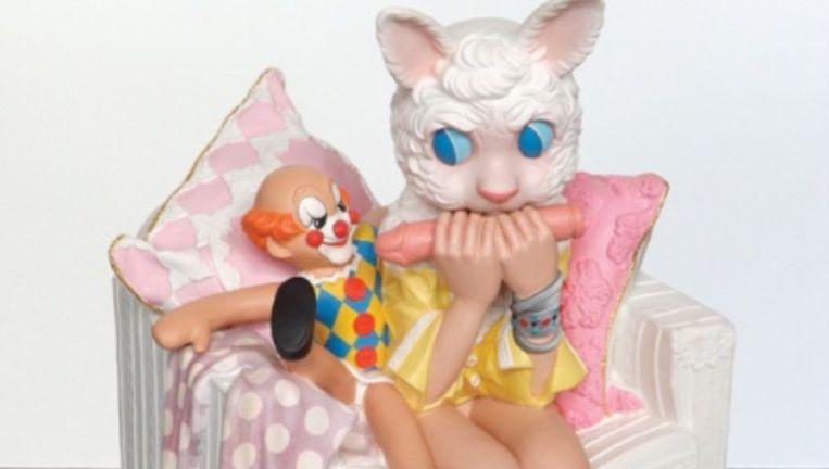 Het bedreigde beeldje 'Toys in the Attic' van Harma Heikens. Beeld .
