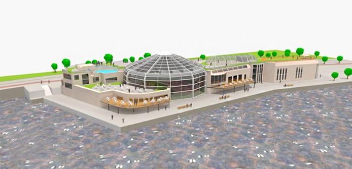 Een impressie van een van de plannen: een state-of-the-art tenniscentrum.