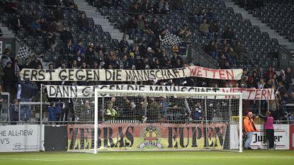 """Supporters Eupen prikken terug richting Verdier: """"Eerst op de ploeg wedden, dan op de ploeg schelden"""""""